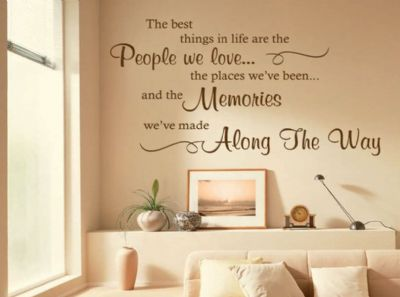 The Best Things In Life Are... Wall Art Quote, Sticker, Decal, Modern Transfer
